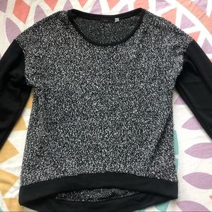 Dex Black Color Blocked Sweater